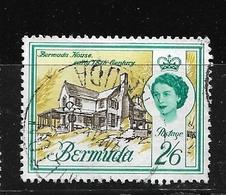 BERMUDA    1962 Definitive Issue  QUEEN ELIZABETH II  USED BERMUDA HOUSE - Bermuda