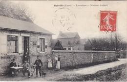 HOUVILLE - Louviers - Café Maison Aubert, Recette Buraliste - Clients En Terrasse - TBE - Frankreich