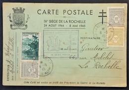 Carte Postale SIEGE DE LA ROCHELLE Libération De La Poche De La Rochelle 8 Mai 1945 Poches De L'Atlantique - Marcophilie (Lettres)