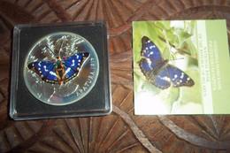 Collection Compléte Sous écrin 6 Piéces Papillons Argent Silver 8000 Ex - Monnaies
