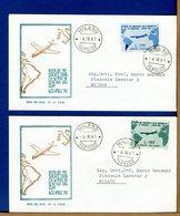 ITALIA - FDC 1961 - VISITA PRESIDENTE REPUBBLICA IN ARGENTINA URUGUAY   - Lire 170 - 185 - 6. 1946-.. Repubblica