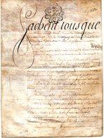Généralité De Lorraine, 15 Sols - 6 Deniers, Parchemin (peau) Double Page 1790 - Fiscaux