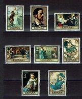 SERIE 8 TIMBRES 1974 MNH Peintre ROSALES - Arte