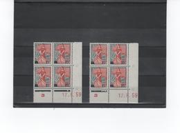 MARIANNE NEF 25 F COIN DATE 12 8 59 DOUBLE GALVANOS - 1959-60 Marianne à La Nef