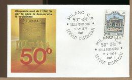 ITALIA - MILANO 1974 - FONDAZIONE GIORNALE QUOTIDIANO NEWSPAPER  L'UNITA' - Professioni
