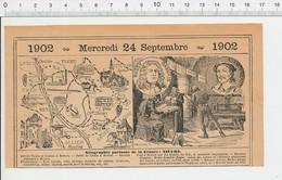 Carte Géographique Département Nièvre Histoire Nevers Croux Imprimerie Bussy-Rabutin Adam Billaut Engrais Polysu 223F - Alte Papiere