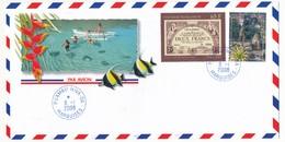 """POLYNESIE FRANCAISE - Enveloppe Affr. Composé Oblitérée """"PUAMAU-HIVA-OA / MARQUISES"""" - 8.1.2008 - Polynésie Française"""