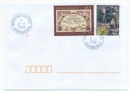 """POLYNESIE FRANCAISE - Enveloppe Affr. Composé Oblitérée """"HAKAHAU-UA-POU / MARQUISES"""" - 8.1.2008 - Polynésie Française"""