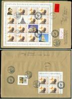 Croatia 1998 FDC Pope John Paul II On Second Visit To Croatia Sheet Mailed Stepinac Church Letter Cover Stationery - Kroatië