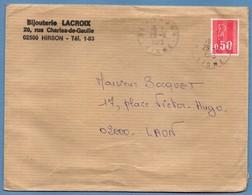 Lettre Hirson ( Aisne 02 ) Type A9 1973 / Béquet - Marcophilie (Lettres)