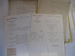 LOT 4 LAS AU PRESIDENT DU COMPTOIR NATIONAL D'ESCOMPTE DE PARIS 1891-1921 EMPLOYES FELIX POTIN MUSIQUE LOUIS GANNE - Banco & Caja De Ahorros