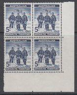 AAT 1961 Definitive / Antarctic Explorers 1v Bl Of 4 (corner) ** Mnh  (40783C) - Australisch Antarctisch Territorium (AAT)