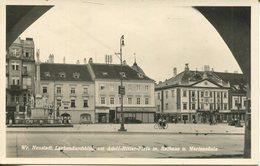 005630  Wiener Neustadt - Laubendurchblick Am Adolf-Hitler-Platz M. Rathaus U. Mariensäule - Wiener Neustadt