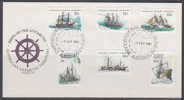 AAT 1981 Definitives / Ships 6v FDC  (40783E) - FDC