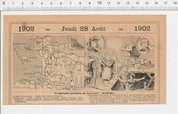 Carte Géographique Département Manche Coquillages Dentelles Beurre Charlemagne Histoire Tourville Urbain Le Verrier 223F - Alte Papiere