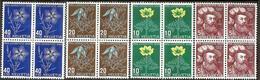 Schweiz Suisse Pro Juventute 1949: Blumen Fleurs Zu 129-132 Mi 541-44 Yv 493-496 Block **/* MNH/MLH (Zu CHF 26.00 - 25%) - Pro Juventute