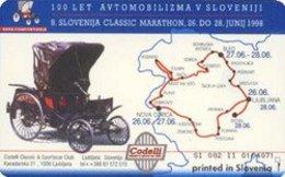 SLOVENIA SCHEDA TELEFONICA 100 Let Avtomobilizma - Cars