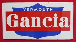 VINTAGE GANCIA VERMOUTH ENAMEL METAL BOARD PANEL RECLAME ITALY ORIGINAL 1950s!!! - Brands