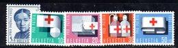 545/1500 - SVIZZERA 1963 ,  Unificato N. 711/715  ***  MNH  Pro Patria  Croce Rossa - Pro Patria