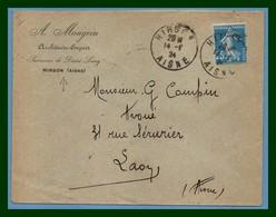 Lettre Hirson ( Aisne 02 ) Type A4 1924 / Sem 140 - Marcophilie (Lettres)