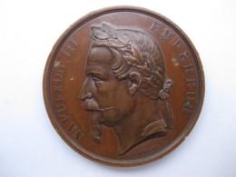 Médaille Comice Agricole Départemental De L'Aube, Machines Agricole 1864. Napoléon III, Par Merley - Other