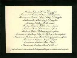 300918B - FAIRE PART DECES ANCIEN - Famille Charles LOUIS DREYFUS SCHUHMANN HEILBRONNN HIRTZ BEHRENS WALEY RICCI LYON - Obituary Notices