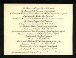 300918B - FAIRE PART DECES ANCIEN - ARISTOCRATIE Famille Baronne R De CERAMI Di BELMONE FERREYROS AYULO OYAGUE Y SOYER - Obituary Notices