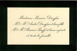 300918B - FAIRE PART DECES ANCIEN - Famille Maurice DREYFUS André RUEFF - Obituary Notices