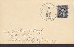 United States Last Day Post Mark NORTH MONTPELLIER, VT 1967 Card Karte Lincoln Stamp - Etats-Unis