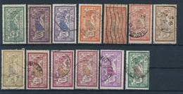 FRANCE - LOT DE 13 TIMBRES OBLITERES MERSON POUR ETUDE - COTE YT : 31€ - 1900/31 - 1900-27 Merson