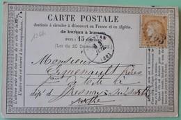 19661# ORNE LETTRE CARTE PRECURSEUR Obl GC ARGENTAN T16 Pour FRESNAY SUR SARTHE - Ganzsachen