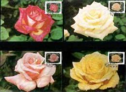 CISKEI, 1994, Roses,  Mint Maxicards, Nr(s.) 88-91 - Ciskei