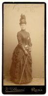 Ritratto Di Una Donna - Studio Fotografico Vitaliano Stuani, Roma - Ca. 1880. - Foto