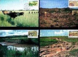 TRANSKEI, 1985, Save The Soil,, Mint Maxicards, Nr(s.) 14-17 - Transkei