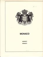 LINDNER T 186a MONACO 1972-1979 COMPLET - Pré-Imprimés