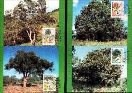 BOPUTHATSWANA, 1985, Trees,   Mint Maxicards, Nr(s.) 22-25 - Bophuthatswana
