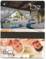 Alegría Spa Advert, Used Magnetic Hotel Room Key Card # Advert-121 - Hotel Keycards