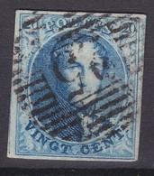 N° 7 Margé : 25 Charleroi - 1851-1857 Médaillons (6/8)
