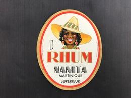 Ancienne Étiquette RHUM NANITA MARTINIQUE SUPÉRIEUR - Rhum