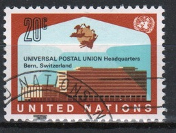 United Nations 1971 Single Stamp Issue To Celebrate The Opening Of New UPU Building. - New York -  VN Hauptquartier