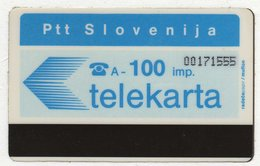 SLOVENIA SCHEDA TELEFONICA Telekarta Blue - White Reverse - Schede Telefoniche