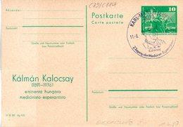 "(FC8) DDR Amtl. Ganzsache M.priv. Zudruck ""Neptunbrunnen,10Pf.grün""P79/C114 ""Kálmán Kalocsay""SSt 11.6.80 KARL-MARX-STADT - Esperanto"