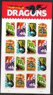 USA, 2018,MNH, DRAGONS, CASTLES, BOATS,  SHEETLET - Postzegels