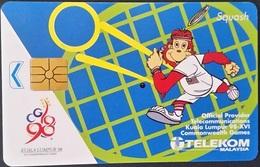 Telefonkarte Malaysia - Sport - Squash - Sport