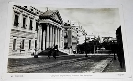 Antigua Postal - España, Mádrid - Congreso Diputados Y Carrera San Jerónimo / Rapide, Nº48 / Circulada 1938 - Madrid