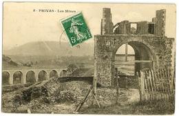 PRIVAS Les Mines 9 (envoi 1909) - Privas