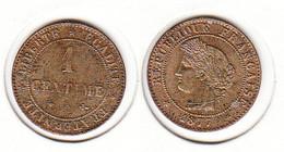 France  1 Centime  1877 A   1c - A. 1 Centime