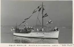 Bateau Galy  Merlin  Ponts Et Chaussées 1953  Bateaux - Bateaux