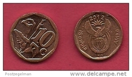 SOUTH AFRICA, 2012, 3 Off Nicely Used Coins 10 Cent C2126 - South Africa