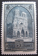 R1752/660 - 1929 - CATHEDRALE DE REIMS - N°259 IV NEUF* - Cote : 77,00 € - France